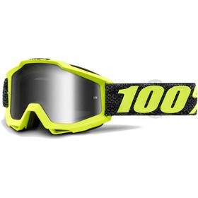 100% Accuri Anti Fog Mirror goggles geel/zwart